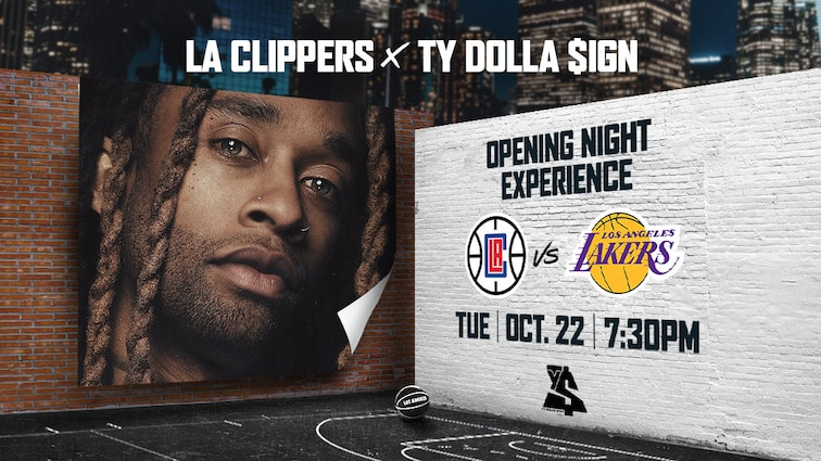 Grammy Nominated R&B Singer & Los Angeles Native Ty Dolla $ign Partners with The Clippers for Opening Night Experience Including Halftime Performance on October 22