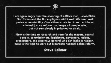 A Statement from Steve Ballmer | (08.26.20)