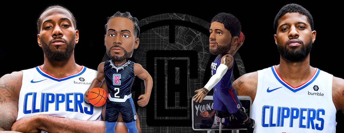 L.A. Clippers Unveil Limited-Edition Kawhi Leonard And Paul George Bobbleheads
