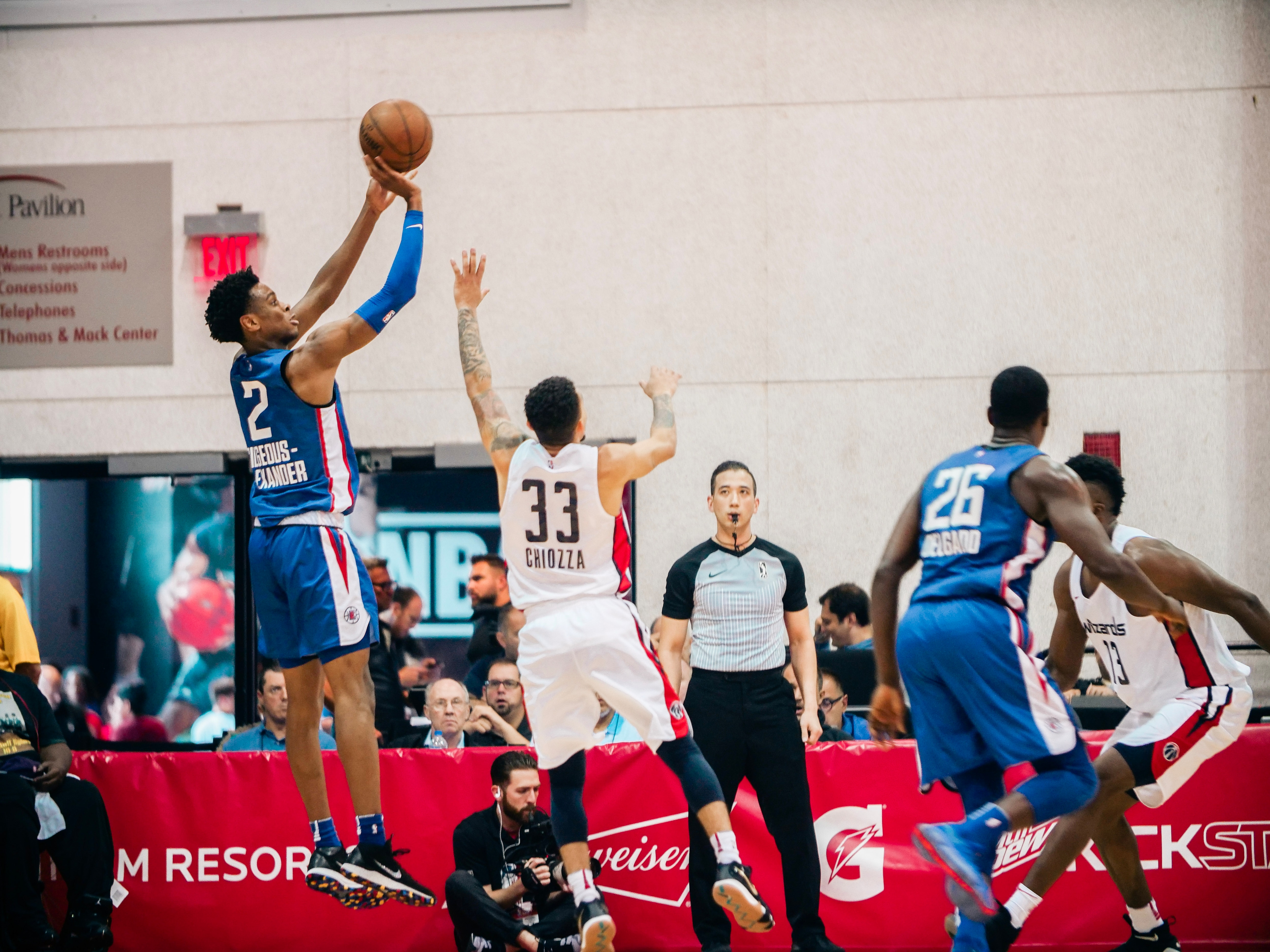 3f16c054a86 ... 2018 Summer League, Shai Gilgeous-Alexander, LA Clippers. Shai averaged  19 points, 4.8 rebounds, 4 assists and 2.3 steals per game during