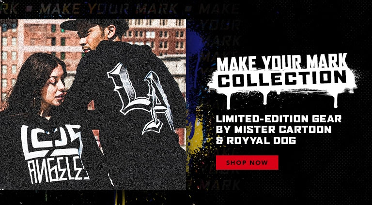 Make Your Mark Collection. Limited-Edition Gear By Mister Cartoon and Royyal Dog. Shop Now