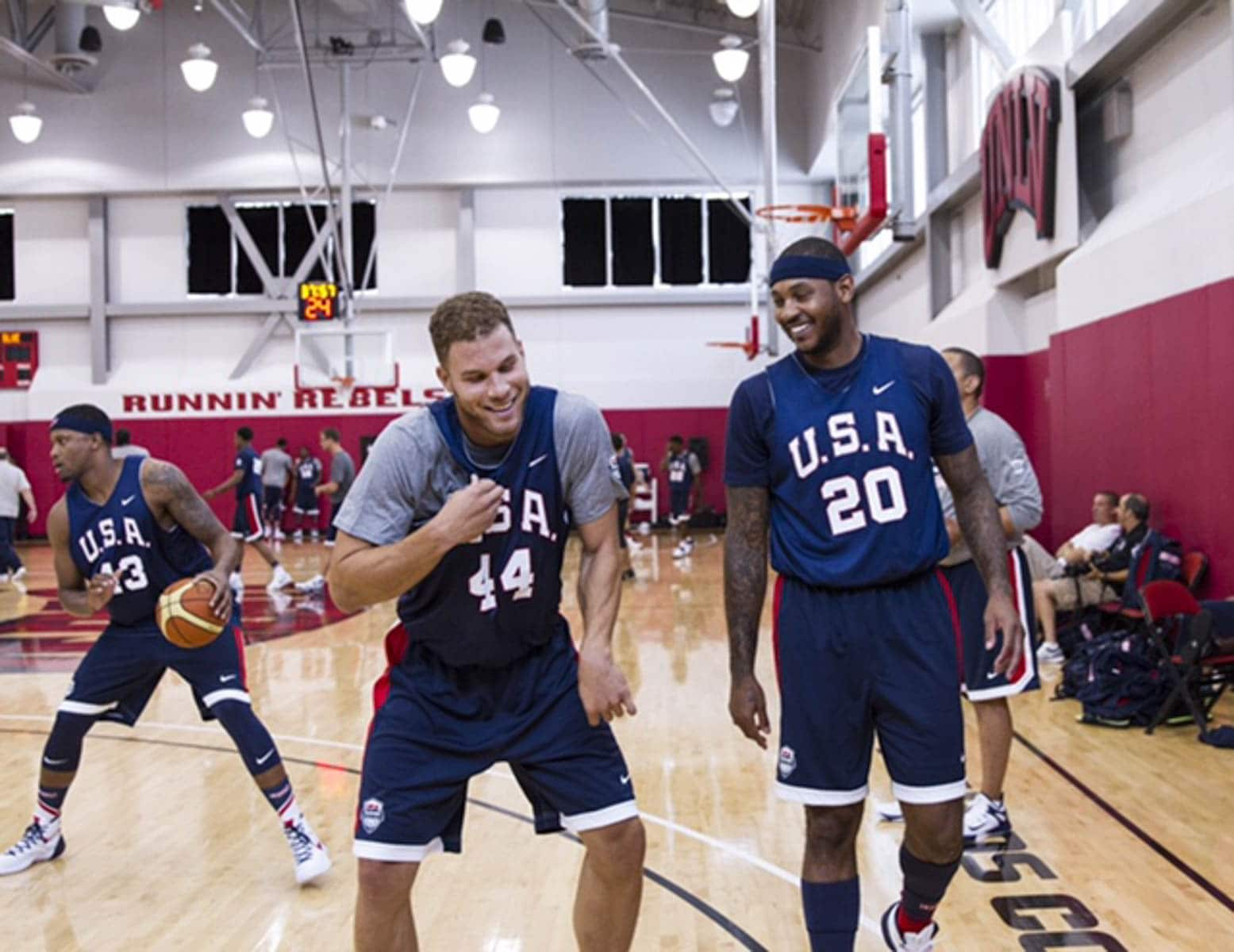 clippers trio practices at day 1 of team usa camp   la clippers