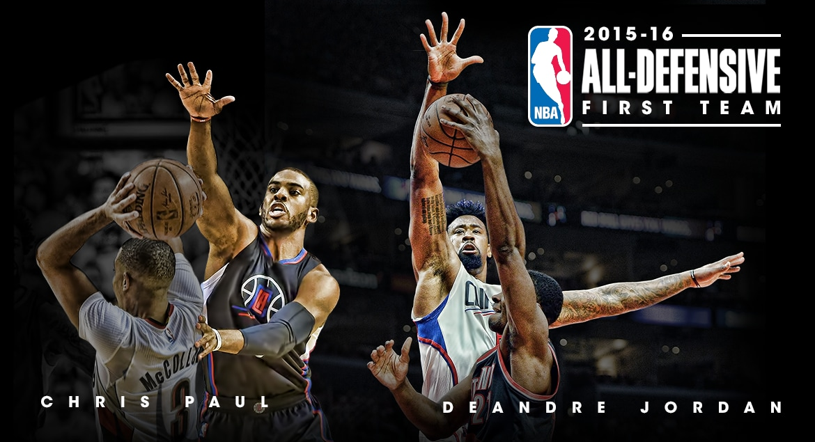 Paul jordan named to 2015 16 all defensive first team la clippers