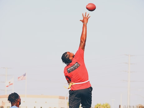 Photos: DeAndre Participates in 4th Annual Athletes vs Cancer Flag Football Game