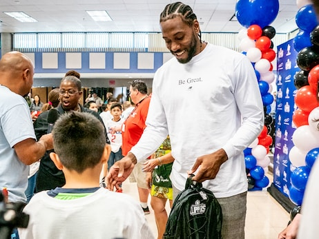 Gallery | Kawhi Leonard, L.A. Clippers and Baby2Baby Donating One Million Backpacks To SoCal Students