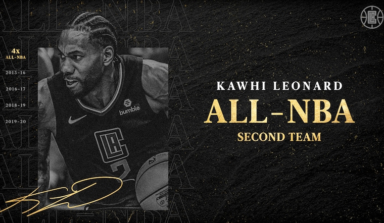 Kawhi Leonard Named to All-NBA Team