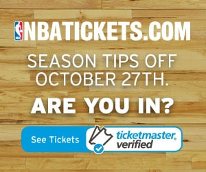 White text on hardwood NBAtickets.com