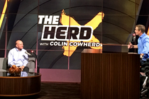 Image of Steve Ballmer on the Herd with Colin Cowherd