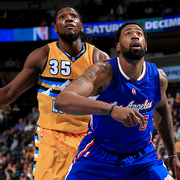 Image of DeAndre Jordan boxing out Kenneth Faried - Article: Preview-150404