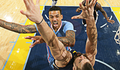 Image of Matt Barnes going for two over Marc Gasol in the key - Article: Gasol, Grizzlies Hand Clippers First Loss Of Road Trip, 107-91