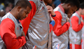 Image of Chris Paul during National Anthem - Article: Photos: Clippers vs. Nuggets | 4/4/15