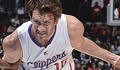 photo of Spencer Hawes driving in the lane