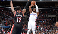 Image of Chris Paul shooting three on LaMarcus Aldridge - Article: Paul: No Such Thing As Moral Victories