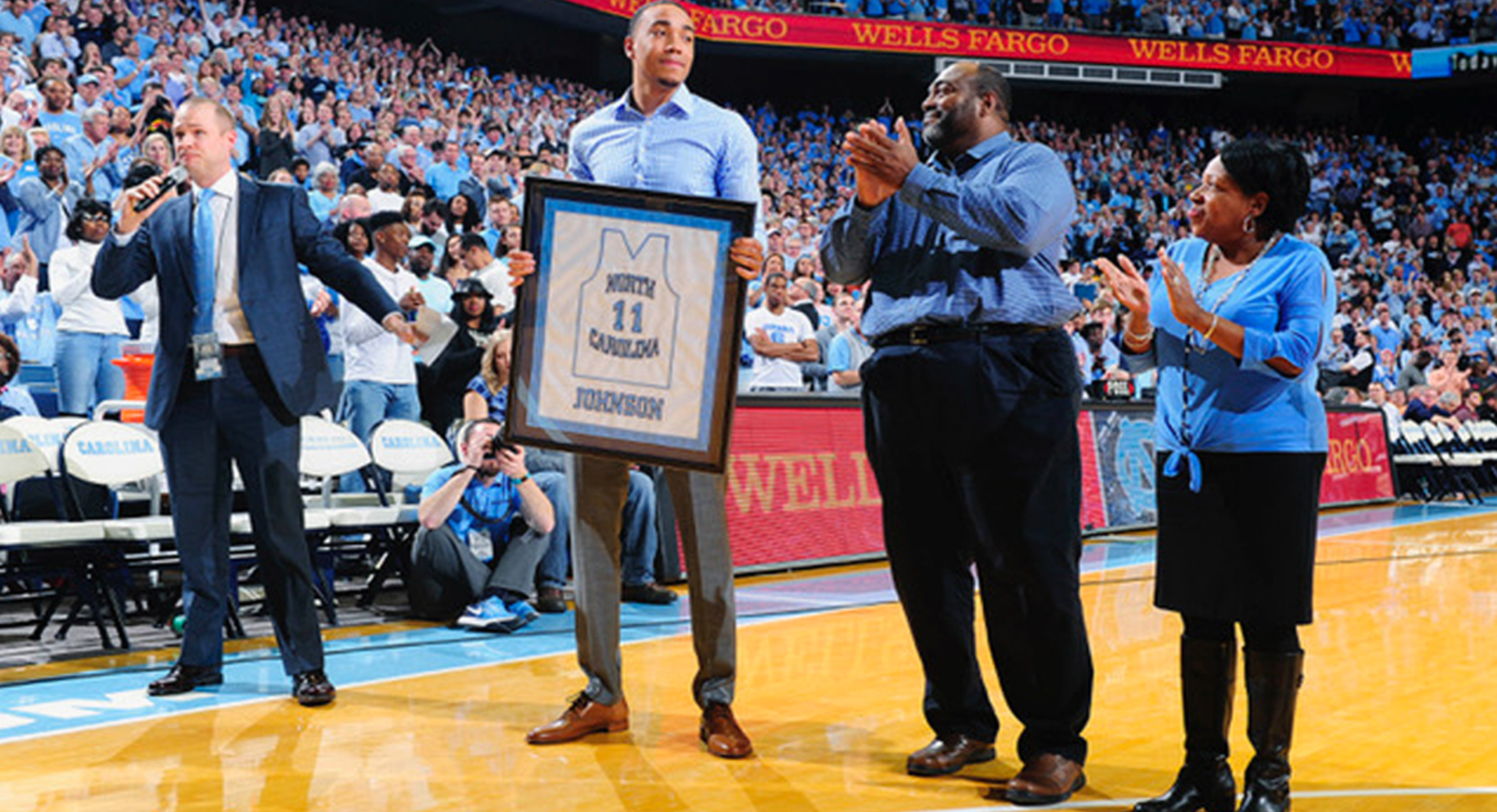 Johnson Honored At UNC, As Frustrating Rookie Year Starts Looking Up