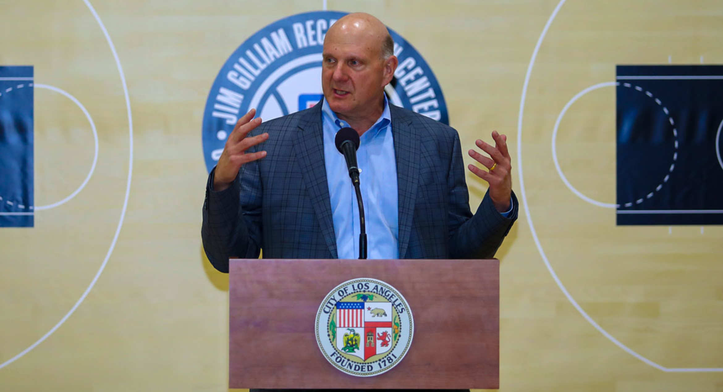 Ballmers and Clippers make major gift to renovate basketball courts across L.A.