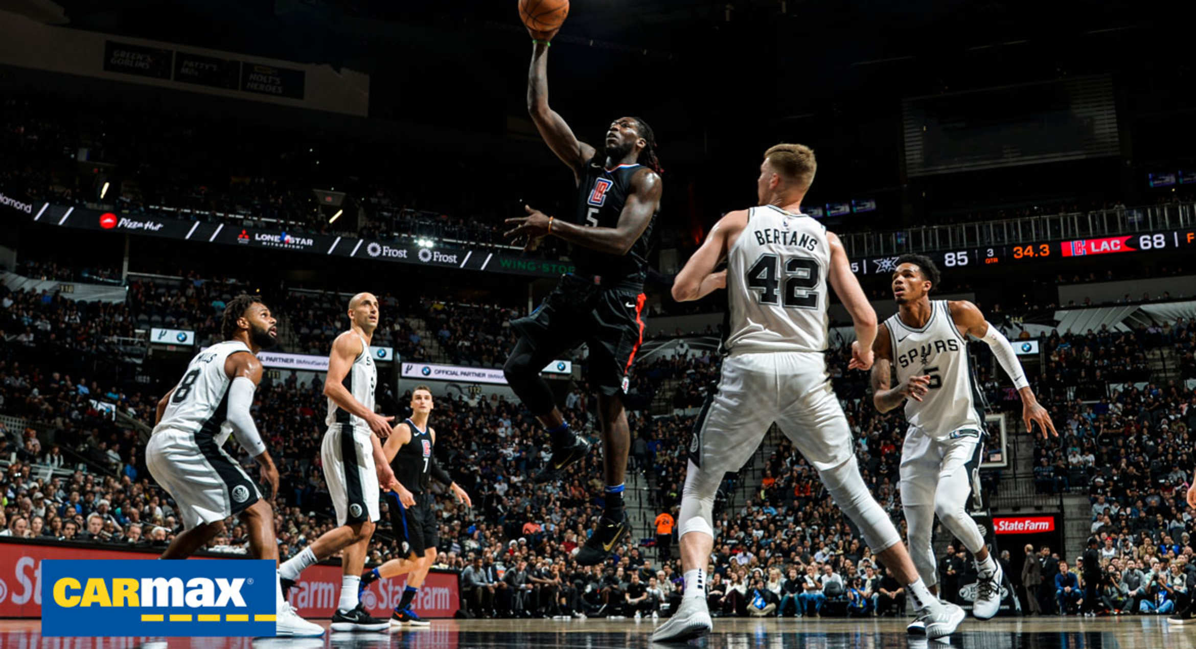a57918483 Gameday Report  Clippers host Spurs in first of final five West matchups