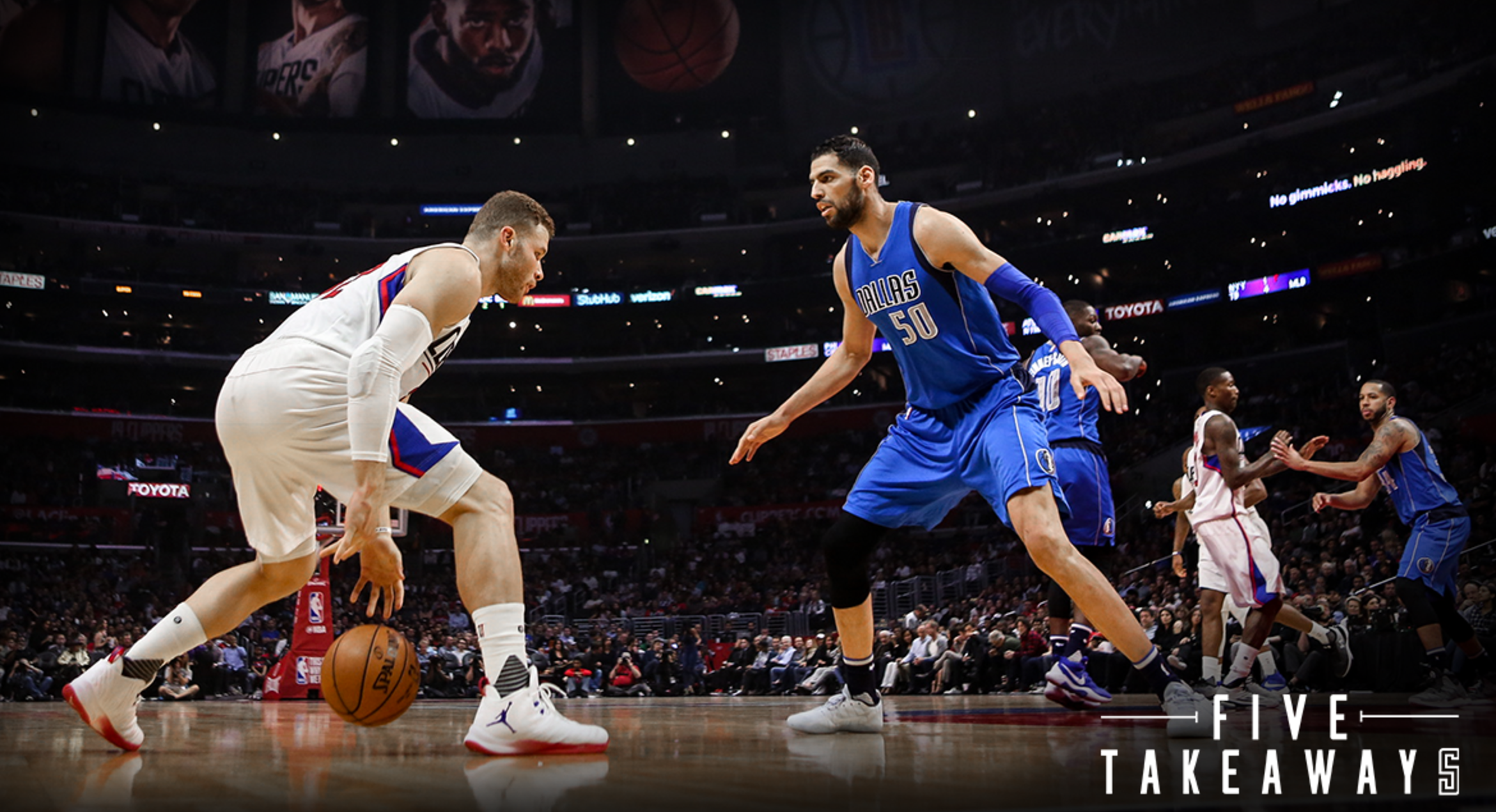 Five Takeaways: Griffin's 32 points allow Clippers to roll past Mavericks