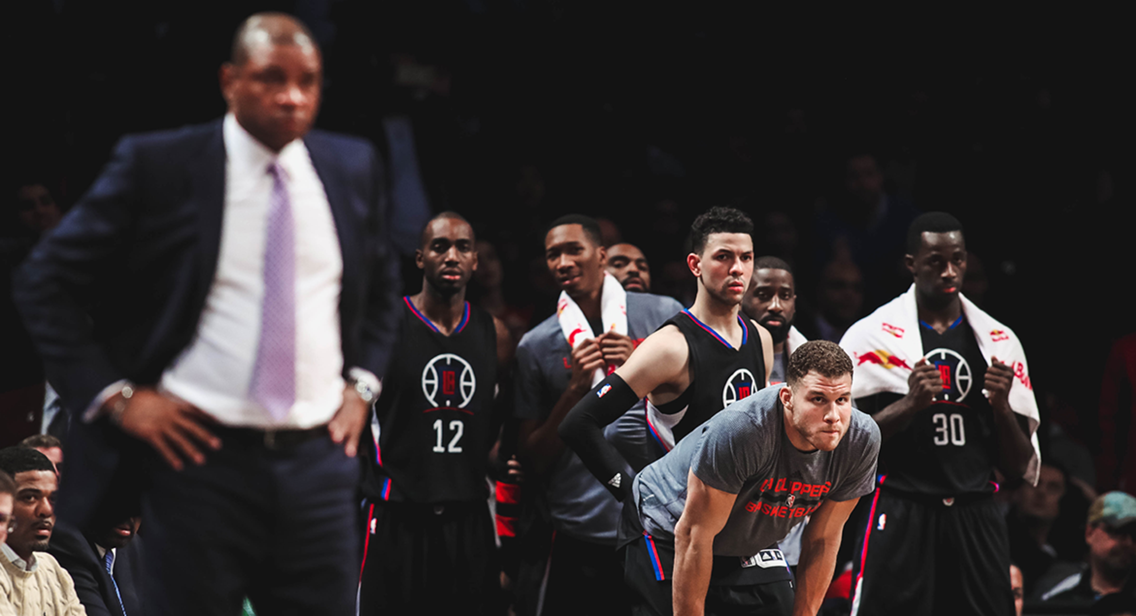 Image of Clippers bench during overtime against the Brooklyn Nets | 11/30/16