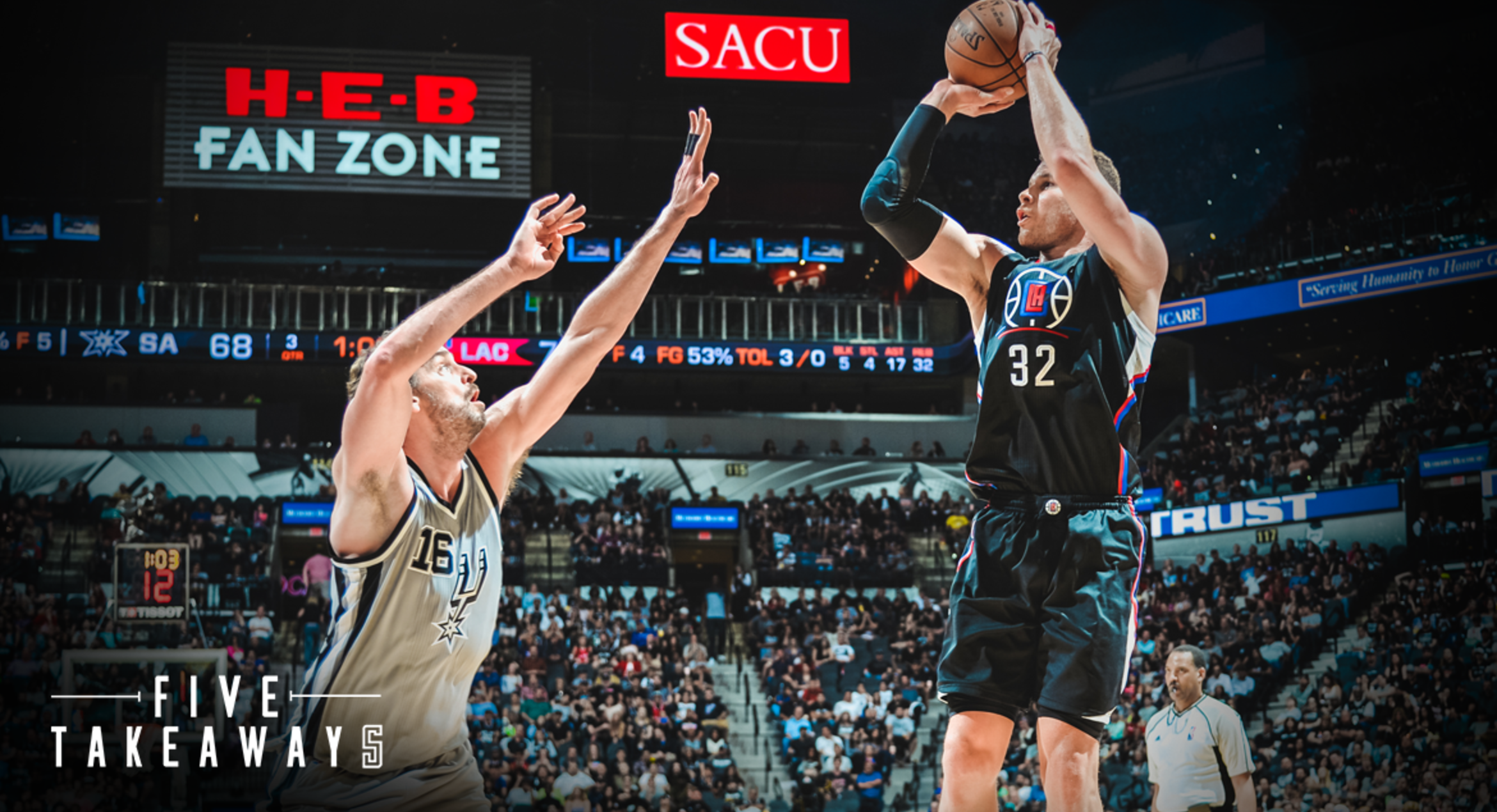 Five Takeaways Balanced boosts Clippers past Spurs and