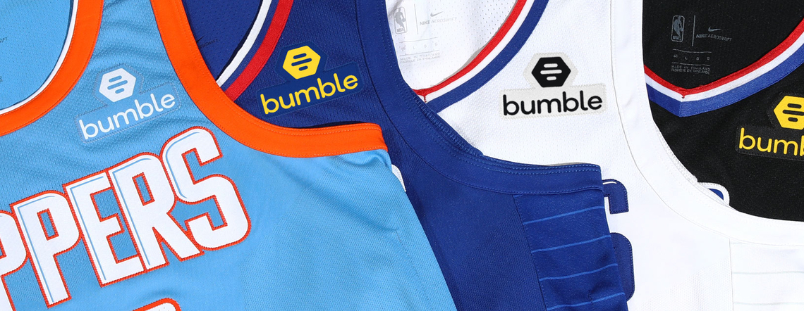 Bumble and the L.A. Clippers Announce Global Partnership Based on Shared Principles of Gender Equality and Debut 'Empowerment Badge' FACEBOOK GOOGLE PLUS TWITTER Bumble and the L.A. Clippers Announce Global Partnership Based on Shared Principles of Gender