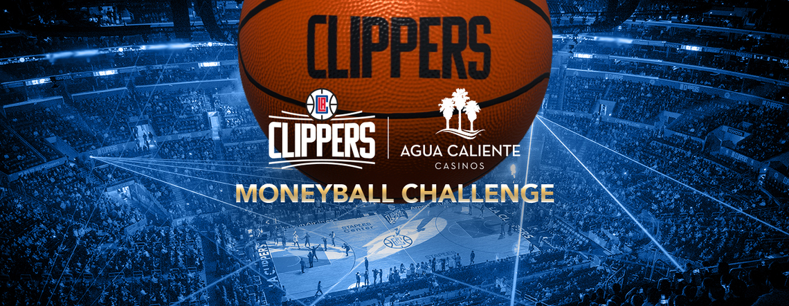 Play the Clippers AR Moneyball Challenge, presented by Agua Caliente Casino Resorts.