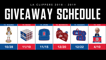 Press Release: Clippers 2018-19 Giveaways Schedule Out Now
