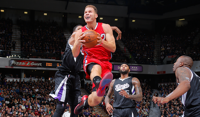 Image of Blake Griffin vs. Kings in Sacramento on 10/28/15