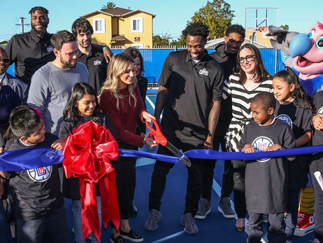 L.A. Clippers Foundation, Patrick Beverley and Braun Family Foundation renovate L.A. elementary school playground