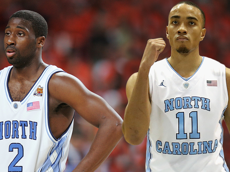 Image of Brice Johnson and Raymond Felton in UNC jerseys | LA Clippers