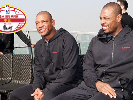 Doc Rivers and Paul Pierce in Shanghai, China