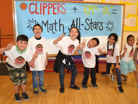 2016-17 Photos: Math Hoops at 109th Street Elementary
