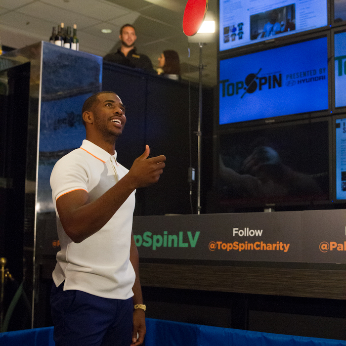 Check out behind the scenes pictures from Chris Paul's NBA Charity Ping Pong Tournament held in Las Vegas