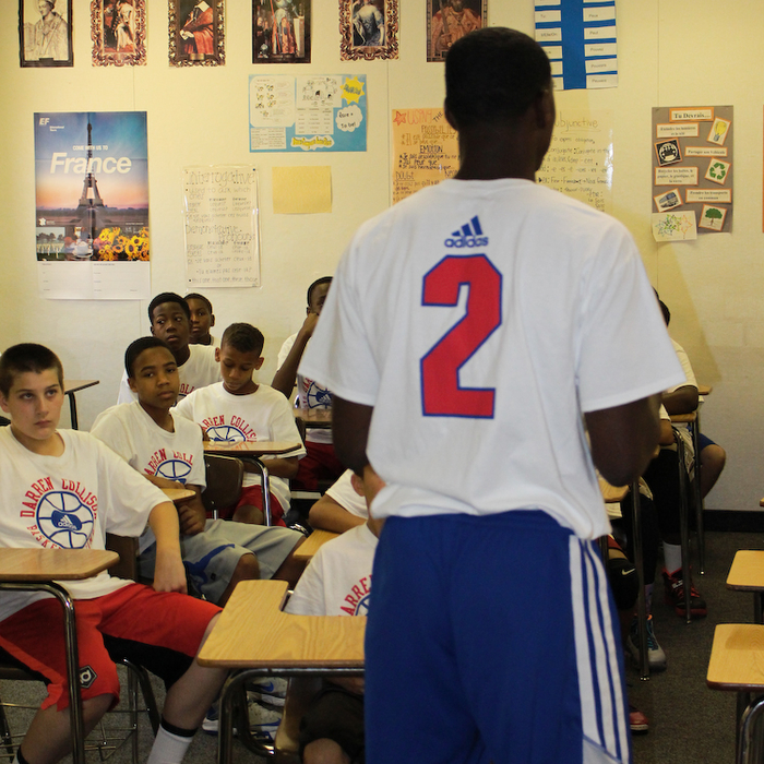 Photos from Collison's annual youth basketball camp at Etiwanda High in Rancho Cucamonga, Calif.