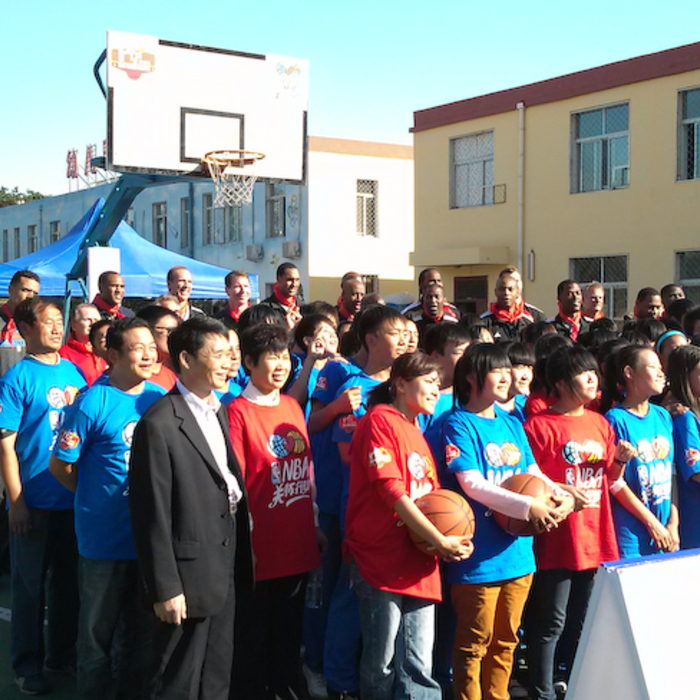 NBA Cares: Clippers visit Huangzhoung, Beijing