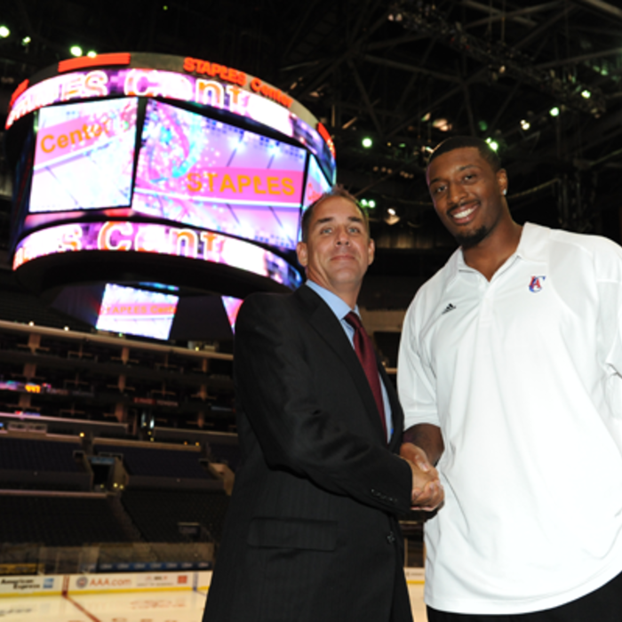 New STAPLES Center Scoreboard Unveiling - 9/22/10