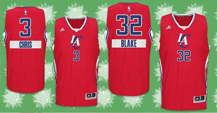 Christmas Jerseys Nba.Clippers Christmas Day Jerseys Los Angeles Clippers