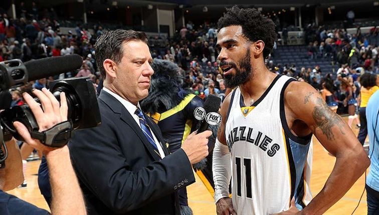 Mike Conley talks to Fox Sports for postgame interview