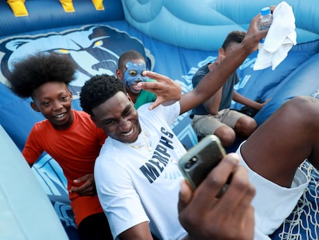 Jaren Jackson Jr. attends Grizzlies Block Party Photos