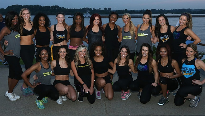 Grizz Girls at the Riverfit Fintess Trail and Pop-Up Park Grand Opening