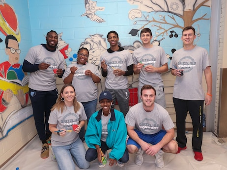 Grizzlies CONNECT Day of Service at Bethel Grove Elementary
