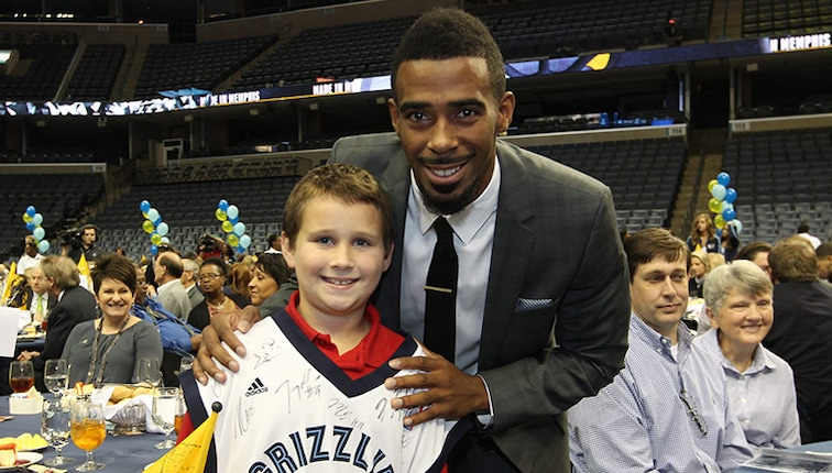 Mike Conley at the 12th annual Tip-Off Luncheon