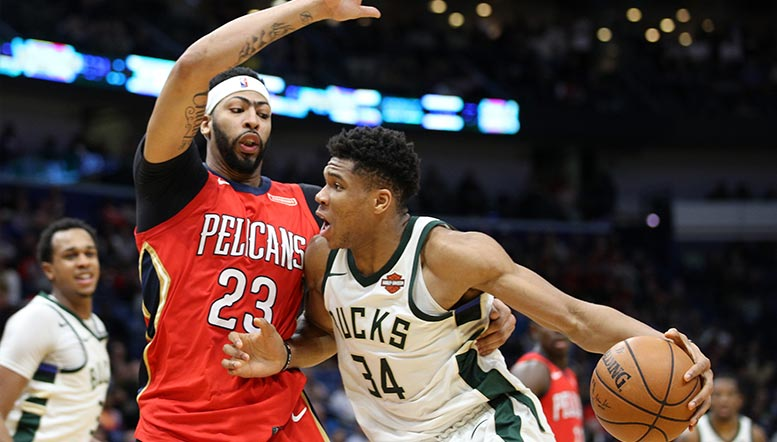 Anthony Davis and Giannis