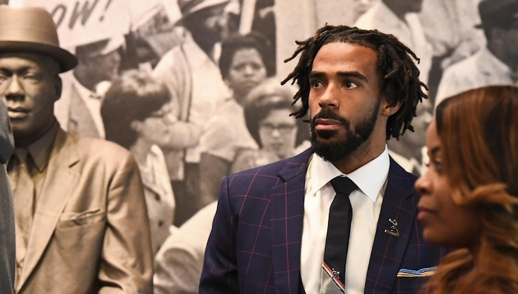 Mike Conley participates in MLK Sports Legacy Award and a tour of the National Civil Rights Museum
