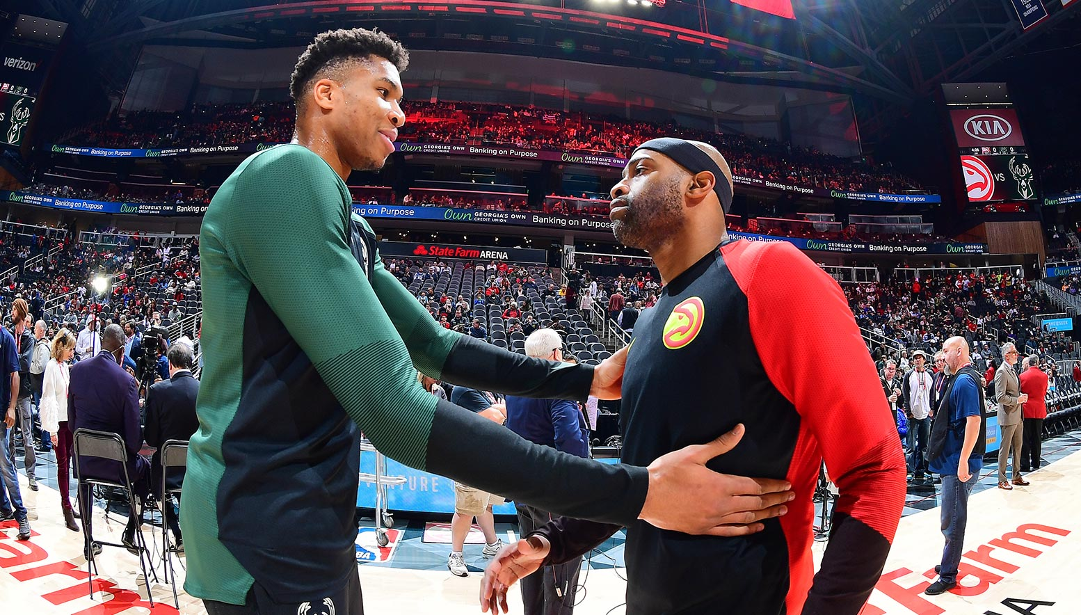 Vince Carter and Giannis Antetokounmpo