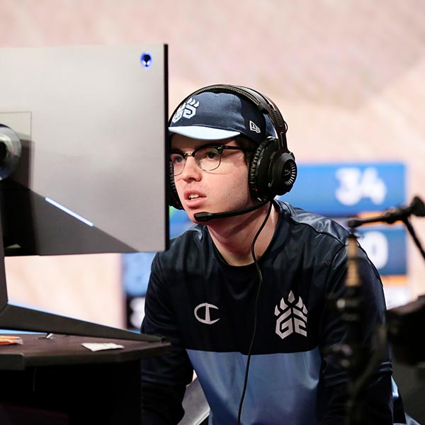 Vandi of Grizz Gaming looks on during a game against Wizards District Gaming