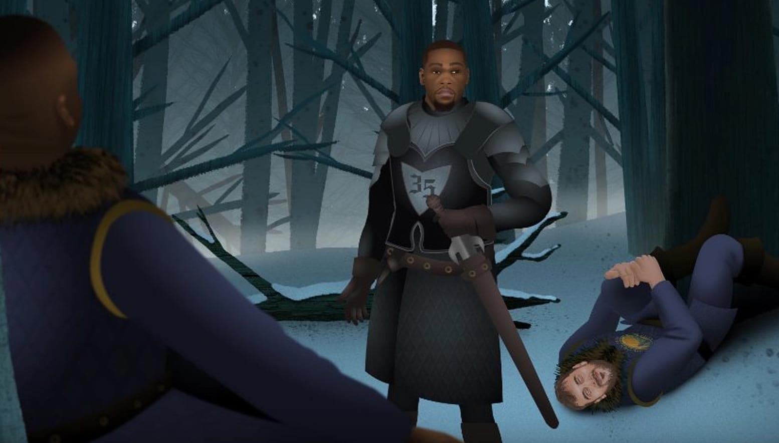 Kevin Durant featured in Game of Zones