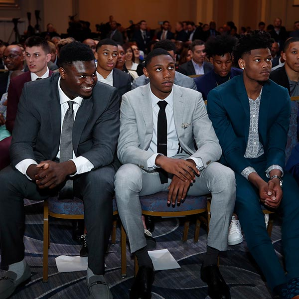 NBA Draft Prospects Zion Williamson, Cam Reddish and RJ Barrett