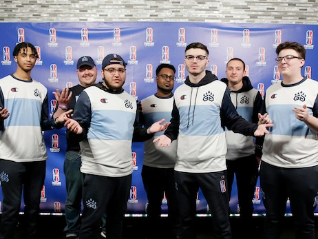 Grizz Gaming poses for a photo following the game against Wizards District Gaming during Week 7 of the NBA 2K League regular season on May 29, 2019 at the NBA 2K Studio in Long Island City, New York.