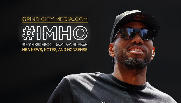 Kawhi Leonard featured on #IMHO