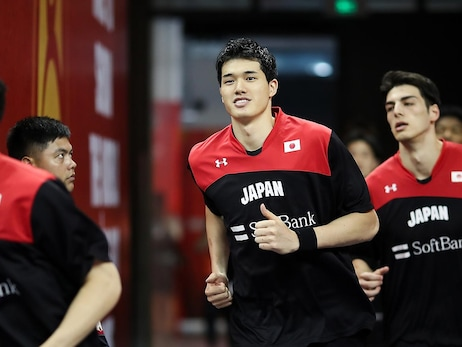 Yuta Watanabe of Japan in action during the 1st round Group E match between USA and Japan